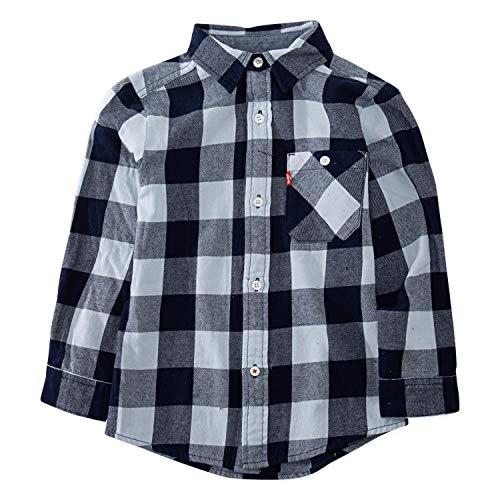 Levi's Boys Long Sleeve One Pocket Button Up Shirt, Skyway, 5