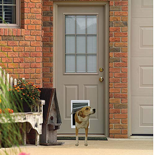 Ideal Pet Products Designer Series Plastic Pet Door with Telescoping Frame, Medium, 7' x 11.25' Flap Size