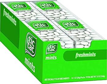 Tic Tac Fresh Breath Mints Freshmint Bulk Hard Candy Mints 1 oz Singles 12 Count Perfect Halloween Treats for Boys and Girls