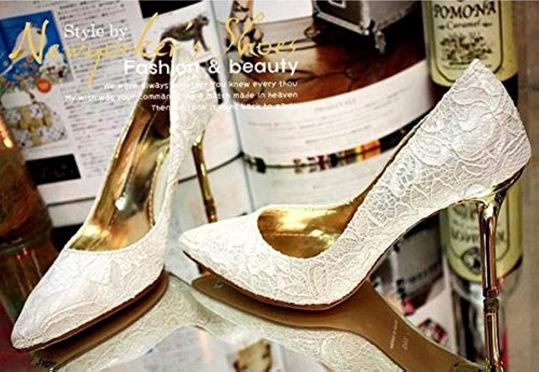 HOESCZS Damenschuhe Herbst High Heel Lace Einzelne Schuhe Hochzeit Hochzeit Schuhe Weiß Wies Schuhe Brautjungfer Schuhe  Online-Verkäufe