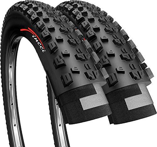 Fincci Paar 27,5 x 2,10 Zoll 54-584 Faltbat Reifen für Rennrad Mountain MTB Schlamm Schmutz Offroad Fahrrad (2er Pack)