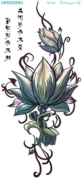 Retro Temporary Tattoos Realistic 3D Flowers Tattoos Stickers Removable Waterproof Tattoos Body Art Arm Fake Tattoos For Men Women 1PC Multicolor