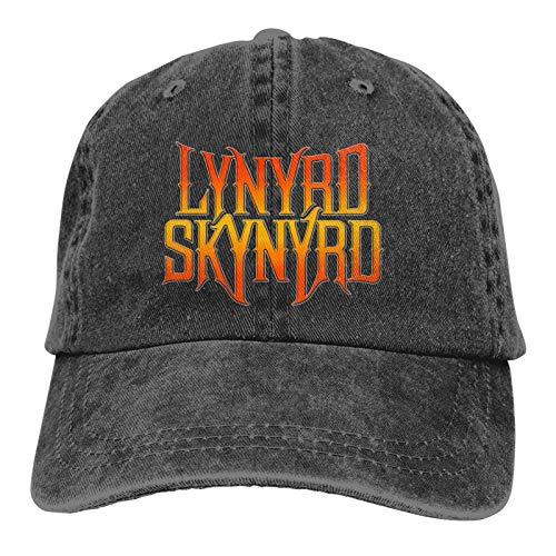 Gorra de béisbol para Hombres y Mujeres L-Y-N-Y-R-D Skynyrd Custom EmbroideredSombrero Ajustable...
