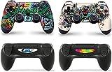 giZmoZ n gadgetZ 2 x Graffiti Playstation 4 PS4 Controller Skins Full Wrap Vinyl Sticker