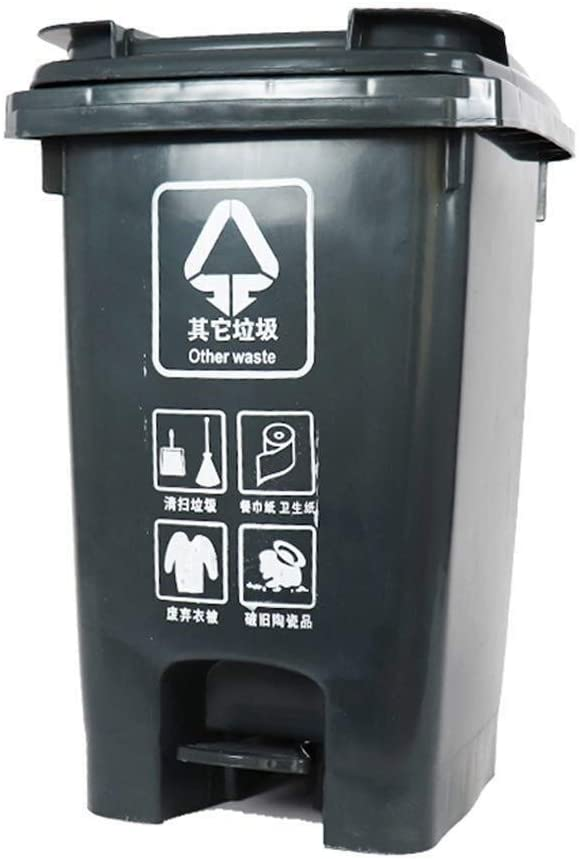 HTDZDX Plastic Trash Can 15L Pedal 60L 40L Ranking TOP12 Houston Mall Bin Recyclable
