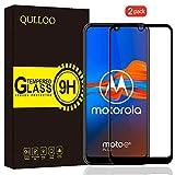 QULLOO Panzerglas für Motorola Moto E6s / Moto E6 Plus, [2 Stück] Panzerglas Schutzfolie 9H Verbesserte Glasfolie Anti-Fingerabdruck Bildschirmschutzfolie für Moto E6s / Moto E6 Plus - Schwarz