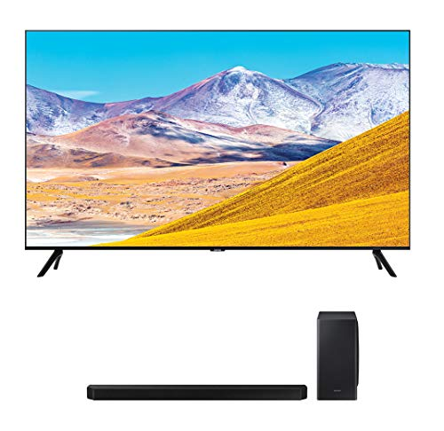 "Samsung UN85TU8000 85"" 4K Crystal 8 Series Ultra High Definition Smart TV with a Samsung HW-Q900T 7.1.2 Channel Soundbar with Dolby Atmos and DTS:X (2020)"