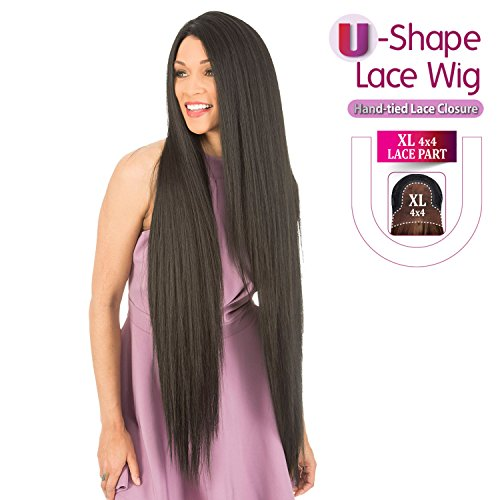 New Born Free HUMAN HAIR BLEND Lace Front Wig - MAGIC LACE 4X4 XL MAGIC LACE MLUH100 (1B)
