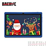 Haehne 7' Tablet PC, Android 9.0 Certificado por Google GMS, 1GB RAM 16GB ROM Quad Core, Cámaras Duales 2.0MP+0.3MP, Pantalla 1024*600 HD, WiFi, Bluetooth, Azul