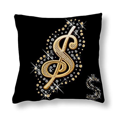 Perfecone Home Improvement - Funda de almohada (algodón, 50 x 50 cm), color dorado