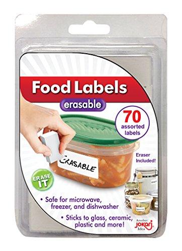 JOKARI Label Once löschbare Lebensmitteletiketten, Nachfüllpackung, weiß, One-Pack