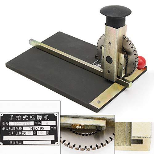 Manual Embossing Machine,Metal Embosser Alphanumeric Plate Stamping...