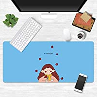 活力少女マウスパッド超ビッグ漫画かわいいライティングクリエイティブガールハートリトルフェアリー日本小さな新鮮なテーブルマット (A4,400*900mm)