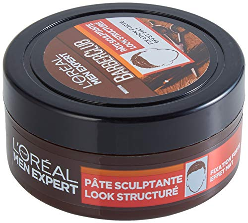 L'Oréal Men Expert - BarberClub - Pâte Sculptante Look Structuré - Fixation Forte & Effet Mat - 75 ml