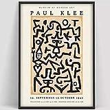 Paul Klee Poster Kunstausstellung Poster Vintage abstrakte