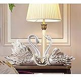 白鳥の装飾品ヨーロッパのリビングルームテレビキャビネットワインキャビネットXuanguangキャビネット研究書棚クリエイティブ小さな調度品 24 cm *幅12.5 cm *高さ22.5 cm ホームデコレーション 芸術の本質 色  White