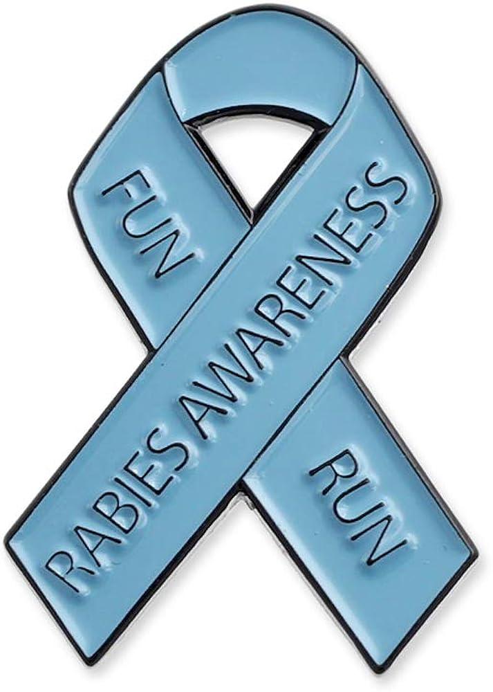 Rabies Awareness Fun Run Ribbon Office Enamel Lapel Pin– 1 Pin