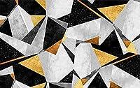 壁紙 壁の壁画 寝室の 250x180cm 壁のための壁紙 リビングルームの装飾 写真の壁画-黒と灰色の幾何学図形