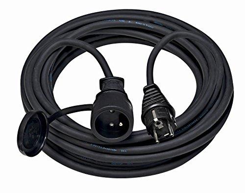 Brennenstuhl Rallonge 25m de câble avec prise à clapet (IP44), Fabrication Française