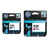 HP 934 C2P19AE, Negro, Cartucho Original de Tinta, Compatible con impresoras de inyección de Tinta OfficeJet 6820; OfficeJet Pro 6230, 6830 + C2P21AE Cartucho de Tinta