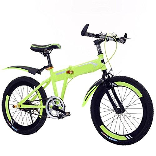 ZHIYUAN Ciclo di addestramento del Bambino di Equilibrio dei Bambini di Bicicletta Leggero 6-10 Anni Bambini Ragazzi Ragazze Che corrono Sicurezza Prima Mountain Bike, Yellow