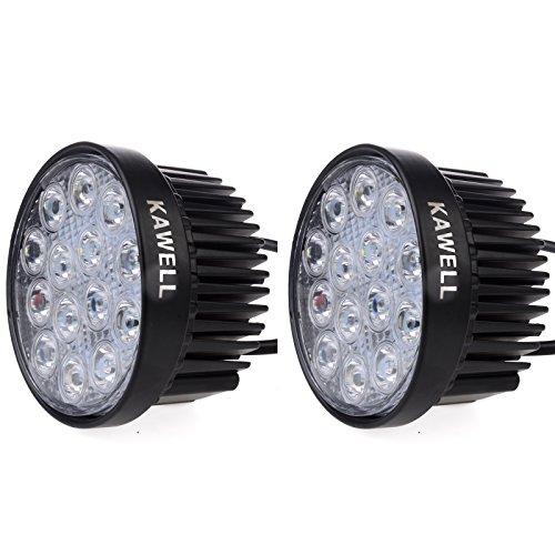 Kawell 2 Pack 42W 30 Degree Round LED Spot Light Off Road Lighting 12V 24V ATV Lighting