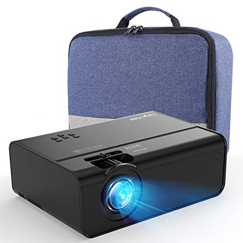 Mini Projector for iPhone, Uyole Portable Projector [Carry Case Included] for Outdoor Movies, 4500L, 1080P and 200'' Display Supported, Compatible with TV Stick, PS4, HDMI, TF, AV, USB, iPhone, Laptop