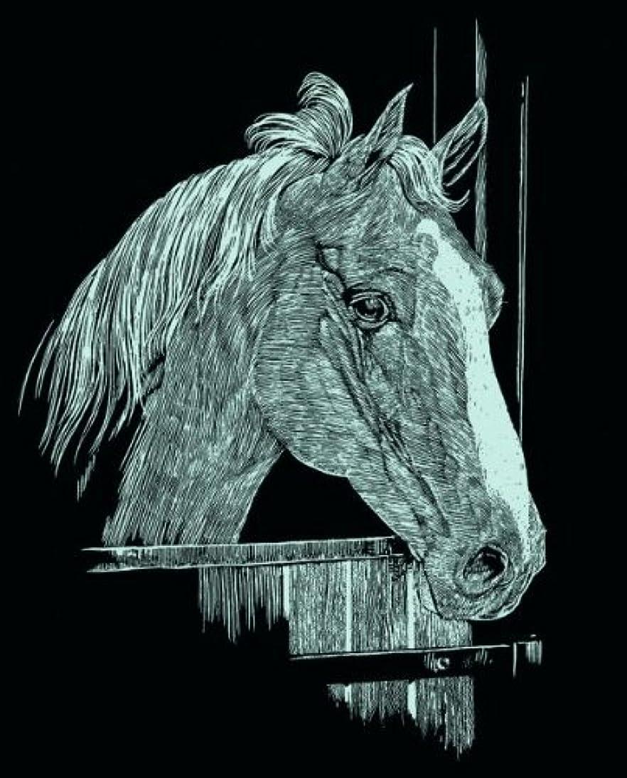 Mammut 130003 - Kratzbild Mini Silber - Pferd, 11 x 18 cm