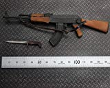 Delili 1/6 Scale Action Figure Accessories AK47 Assault Rifle Miniature Plastic Model Metal & Wooden