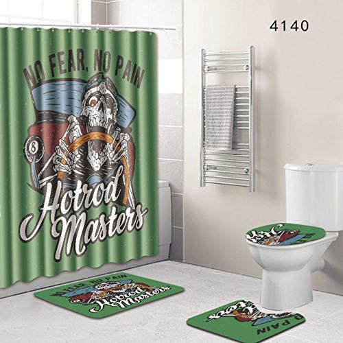 KEAINIDENI toiletmat schedel Kerstmis badkamer douchegordijn en tapijt Set Dropshipping 3D toiletmat Accessoires zwart en wit tapijt deurmat tapijten 45x75 45x 37.5 35x45 8
