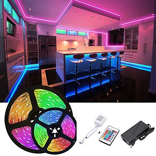 TID LED - Kit completo tira LED RGB SMD 5050 300LED 12V IP20 rollo 5 metros con controlador RGB con mando de 24 botones y transformador 5A 60W 12V UNIDADES LIMITADAS
