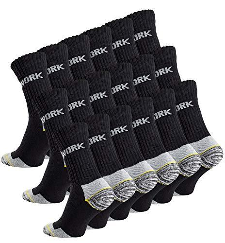 18 Paar Herren Arbeitssocken - Robuste Atmungsaktive Work Socks - Berufssocken von Cottonprime