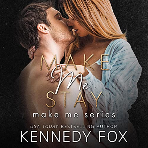 Diseño de la portada del título Make Me Stay