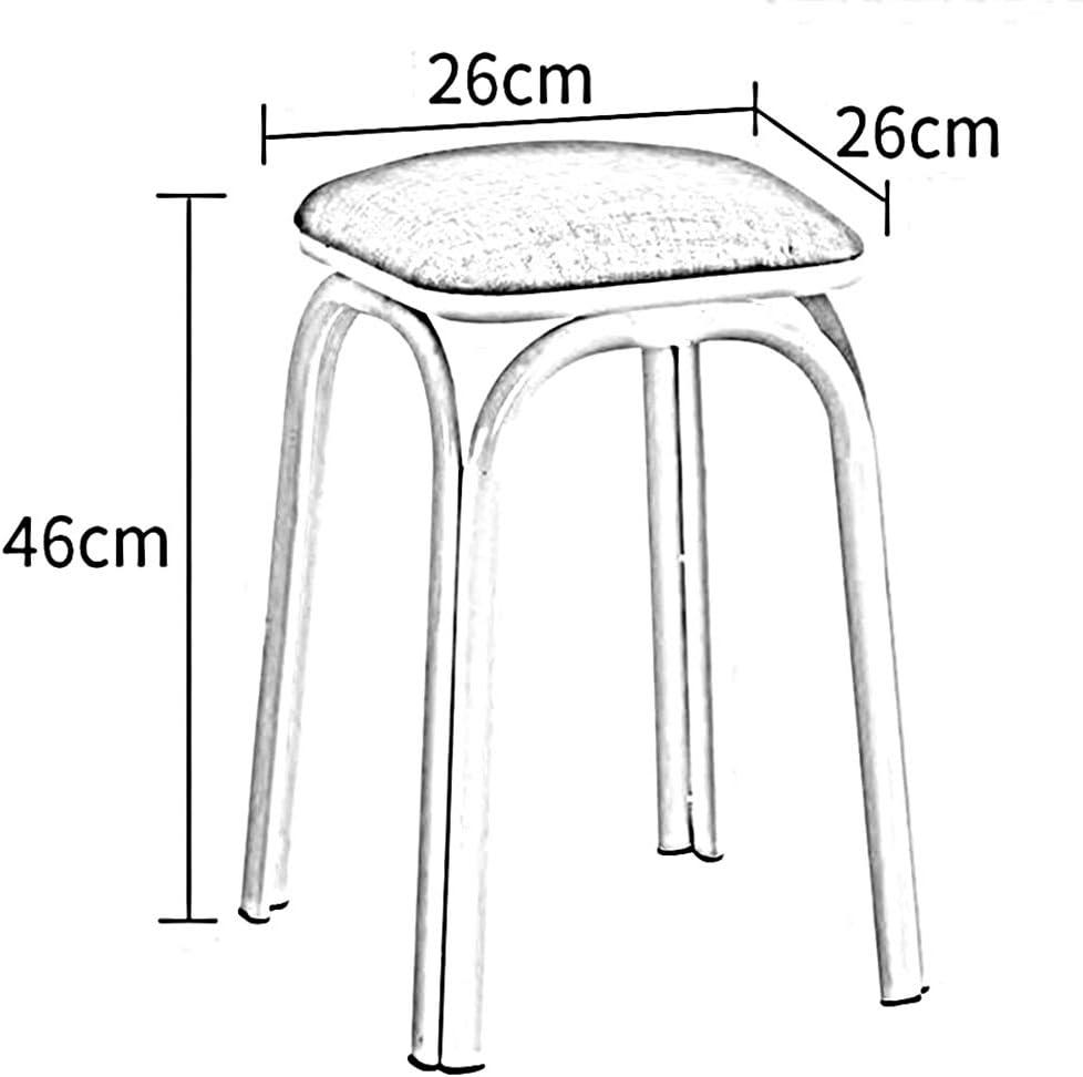 WYYY chaise de Bureau Plastique Empilable Selles Sommet Rond Tabourets Restaurant Jambe en Métal Pack-2 Durable Fort (Couleur : T5) T4