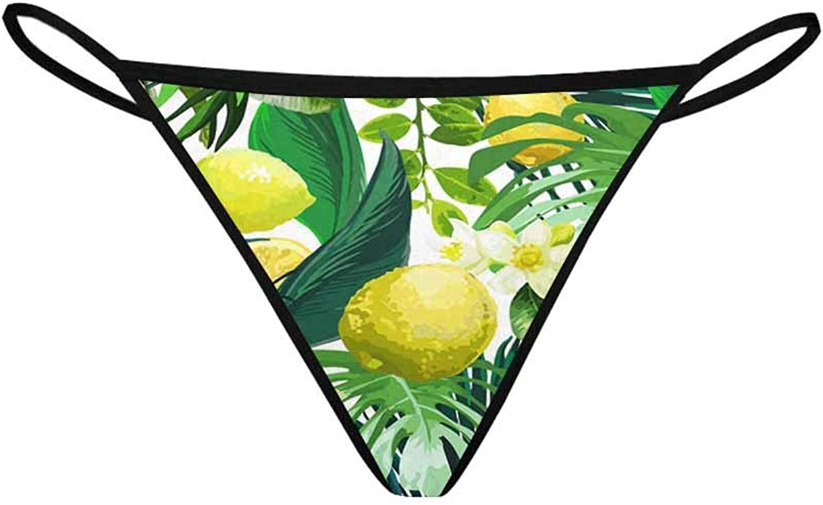 InterestPrint Soft Women's Low Rise Thongs Recommended Las Vegas Mall Leaf G-String Panties