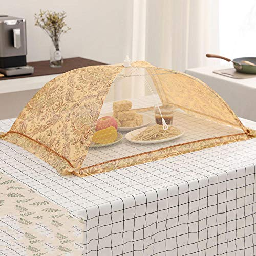 Screen Net Protectors,Dust-Proof, Foldable, Removable and Washable Mosquito-Proof Rice Cover Umbrella-R,Screen Food