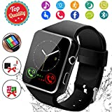 Smart Watch, Bluetooth Smartwatch Touch Screen Wrist Watch with Camera/SIM Card Slot,Waterproof Smart Watch...
