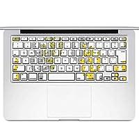igsticker MacBook Air 13inch 2010 ~ 2017 専用 キーボード用スキンシール キートップ ステッカー A1466 A1369 Apple マックブック エア ノートパソコン アクセサリー 保護 015943 サボテン 模様 黄色