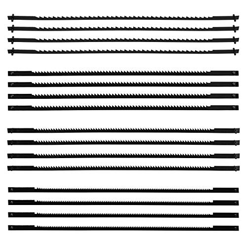 ZITFRI 16 Stück Dekupiersägeblatt 127mm Feinschnitt-Sägeblätter mit Querstift 10/15/18/24 Zähne - Laubsägeblätter für die Holzbearbeitung Holz Schaum Kunststoff