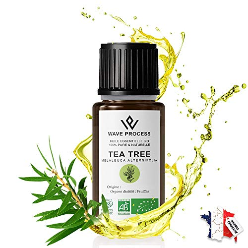 Huile Essentielle de Tea Tree Bio 30ml Pure et Naturelle certifiée Biologique de Marque Française Avec Fermeture Sécurité Enfant (Tea Tree, 30ml)