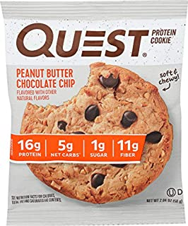 QUEST NUTRITION Peanut Butter Chocolate Chip Protein Cookie, 2.04 OZ (B07PT79LQW) | Amazon price tracker / tracking, Amazon price history charts, Amazon price watches, Amazon price drop alerts