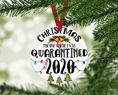 2020 Christmas Ornament,Christmas The One Where I was Quarantined Ornament,2020 Quarantine Christmas Ornament,Xmas Ornament,Covid Quarantine, 3 Inch