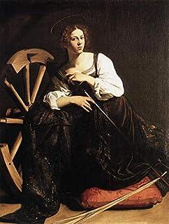 Singing Palette 9 Dipinti Famosi - €40-€1500 Pittura a Olio a Mano da pittori accademici - St Catherine of Alexandria Cara...