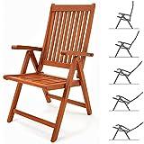 Deuba Sitzgruppe Moreno 8+1 Eukalyptusholz klappbar 9-TLG Tisch Sitzgarnitur Holz Gartenmöbel Garten Set - 3