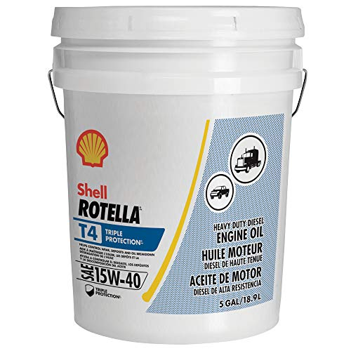 Shell Rotella T4 Triple Protection Conventional 15W-40 Diesel Engine Oil (5 Gallon Pail)
