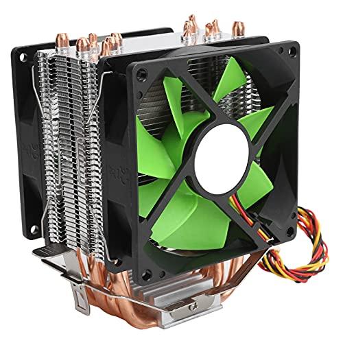 gostcai Enfriador de Ventilador de CPU de 9 cm, Enfriador de CPU de 3 Pines, Ventilador de enfriamiento de Doble Torre de CPU, para LGA775 / 1155/1156/1366 AMD AM2 / AM2 + / AM3.