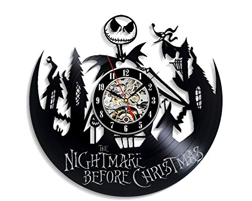 Levesdecor - Nightmare Before Christmas Vinyl Wall Clock