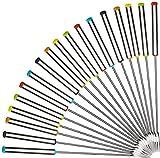 Faneli - Forchette per fonduta, in Acciaio Inox, 18 Pezzi, 24 cm, con Manico in Acciaio Inox, per Frutta, Cioccolato, Fontana, Formaggio con Manico Resistente al Calore