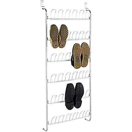 WENKO Range chaussure à suspendre, gain de place, pour 18 paires, 59 x 151 x 14 cm