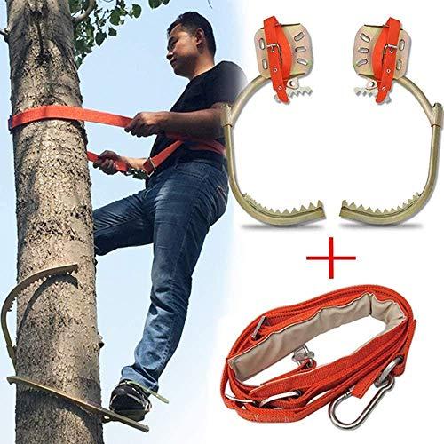 Kletterbäume Artifact Elektriker Holz Pole Fuß Schnalle, Steigeisen Baum Klettern, Baumklettern Artifact Klettern Baum, Klettern Werkzeug Baumkletterausrüstung, einschließlich Sicherheitsgurte, 600Mod